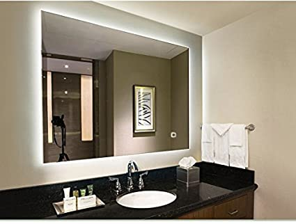 Amazon.com: LED Lighted Rectangular Wall Mounted Mirror (32\