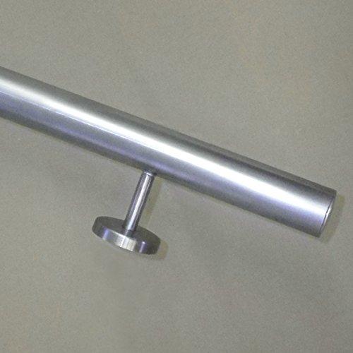 Edelstahl Handlauf O33 7mm Mit Geraden Handlaufhaltern Brustung Aus