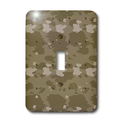 3dRose LLC lsp_36139_1 Desert Camouflage-Military-United States Single Toggle Switch