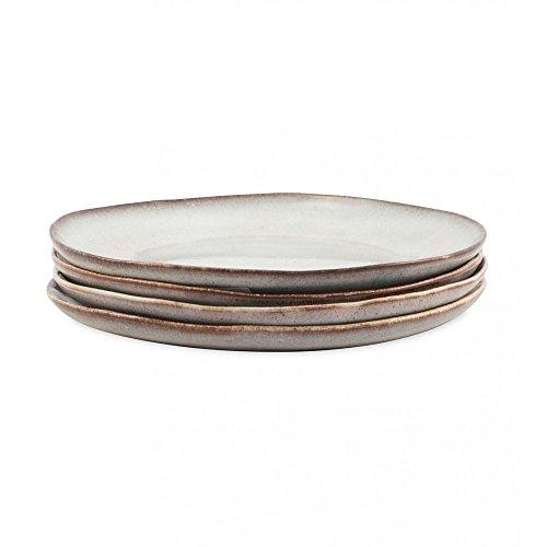 Farmstead 11 Stoneware Dinner Plates - Set of 4 - Bisque