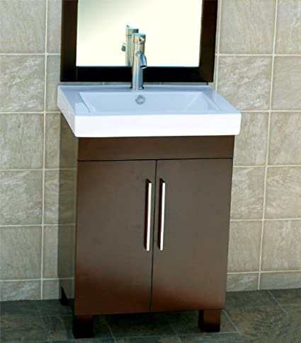 24u0026quot; Bathroom Vanity Cabinet Ceramic Top With Integrated Sink + Faucet  CM1 ...