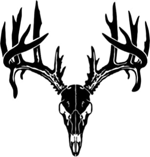 Amazoncom Large Deer Buck Hunting American Flag Decal Sticker - Rear window hunting decals for trucksamazoncom truck suv whitetail deer hunting rear window graphic