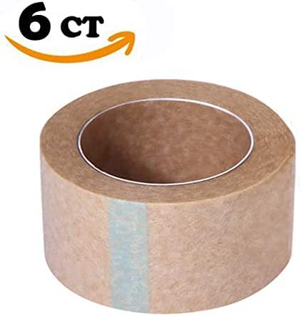 Zehhe 6 Rolls Tan Micropore Tape Breathable Adhesive Gauze Bandage Tape for First-Aid Surgical Incisions Wound Care etc, 1 Inch x 10 Yards, Water Resistant