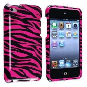 (Zebra Pink Design Hard Snap-on Crystal Skin Case Cover Accessory for Apple Ipod Touch 4th Generation 4g 4 New)