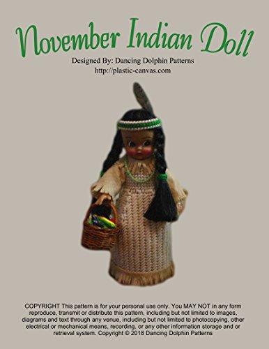 November Indian Doll: Plastic Canvas Pattern