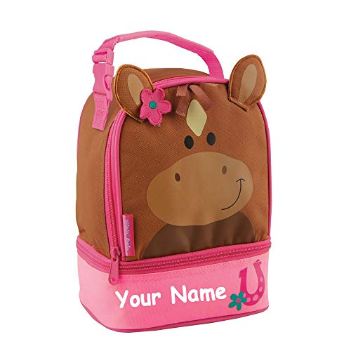 - Stephen Joseph Personalized Brown Horse Lunch Pals Lunch Box Bag