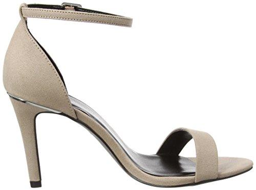 New Look Wide Foot Sensible, Zapatos de Punta Descubierta Mujer Marrón (Mink)