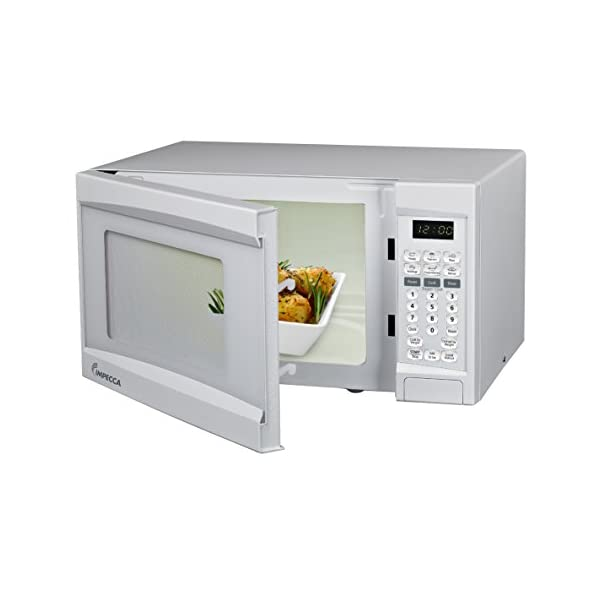 Impecca Microwave Oven with 10 Power Levels and Digital Display, 0.7 Cubic Feet, White 2