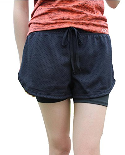 Womens-Active-Mesh-2-in-1-Run-Sport-Shorts