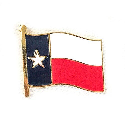 Texas Waving Flag Lapel Pin State Made of Metal Souvenir (Texas Flag Lapel Pin)