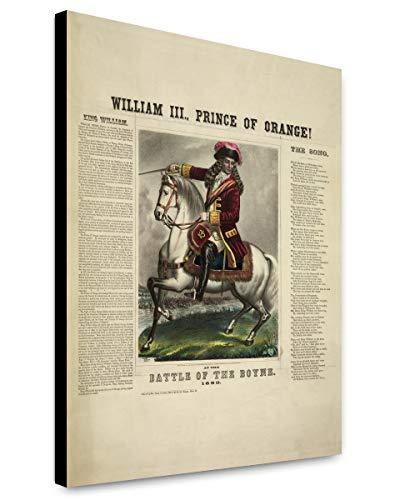 ClassicPix Canvas Print 12x15: William III, Prince Of Orange! At The Battle Of The Boyne. (King William Of Orange Battle Of The Boyne)
