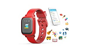 Octopus Watch V1 by Joy Kids Smartwatch Teaches Good Habits and Time - Bright Red