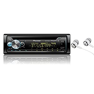 Pioneer in-Dash Built-in Bluetooth CD, Front USB Auxiliary, MP3, Pandora, AM/FM and SiriusXM Ready, Built in iPod, iPhone, and iPad Controls, ARC Phone app Car Stereo Receiver/Free ALPHASONIK Earbuds