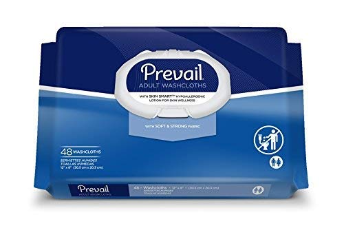 Prevail Personal Wipe, Bath Wipe Washcloth, 48 Pack, Soft Pack, Vitamin E/Aloe, WW-710 - Special 3 Pack