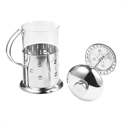 Coffee Pot, 350/600/800ml Stainless Steel Glass French Press Coffee Cup Tea Maker Cafetiere Filter Coffee Pot Press Plunger(800ML)