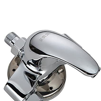 Válvula Mezcladora Hansgoed Cobre Instalada Ducha Con Agua Fría Del Grifo De Agua Solar Calentador De