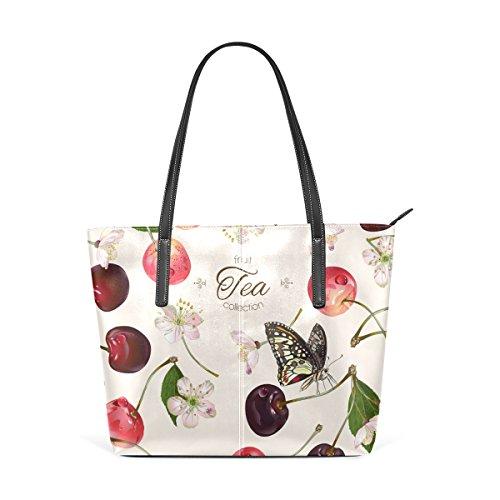 1130e4cb2aedd COOSUN süße Kirschfrucht PU Leder Schultertasche Handtasche und Handtaschen  Tasche für Frauen