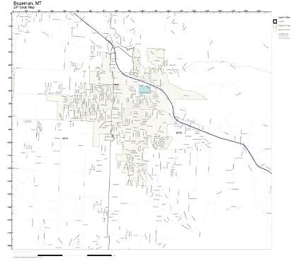Amazon Com Zip Code Wall Map Of Bozeman Mt Zip Code Map Not