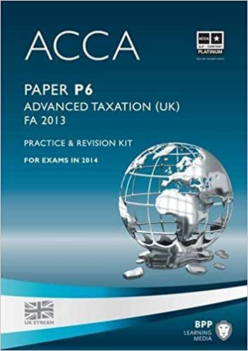 Book Acca P6 Advanced Taxation Fa2013 (Practice and Revision Kit) by Bpp Learning Media (2014-02-07)