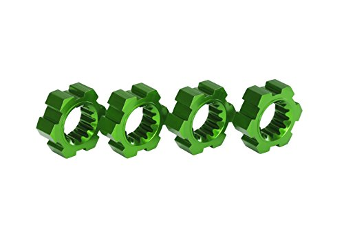 Traxxas Green Anodized-Aluminum Wheel Hubs Accessories/Tools