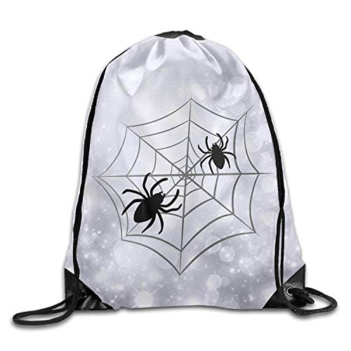Beatybag 3D Print Drawstring Bags Bulk, Halloween Spider Web Unisex Gym Drawstring Shoulder Bag Backpack String Bags for Men Women -