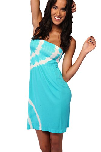 Ingear Tie Dye Tube Dress Summer Casual Stretchy Strapless Beach Cover Up - Strapless Summer Dress