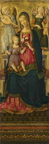 The Perfect Effect Canvas Of Oil Painting 'Benvenuto Di Giovanni - The Virgin And Child (1),1479' ,size: 16x46 Inch / 41x118 Cm ,this Reproductions Art Decorative Prints On Canvas Is Fit For Powder Room Artwork And Home Decor And Gifts