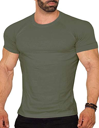 (COOFANDY Men's Workout Tee Short Sleeve Gym Training Bodybuilding Muscle Fitness T Shirt)