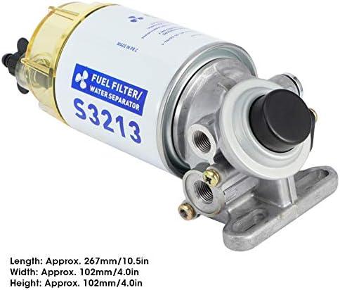 Yctze Kraftstofffilter Wasserabscheider Komplettset Marine Kraftstofffilter Wasserabscheider Komplettsatz Filter Ersetzt S3227 Boot Außenbordmotor Teile Auto