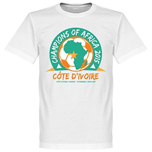 2015 Elfenbeinküste Meister von Afrika T-Shirt 1 - weiß - BOYS - 4 Jahre