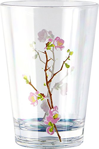 Corelle Coordinates Cherry Blossom 8-Ounce Acrylic Glass, Set of 6 - Cherry Pattern Glass