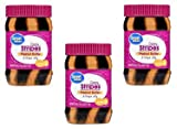 Great Value Creamy Peanut Butter & Grape Jelly Stripes Spread, 18 oz, Pack of 3