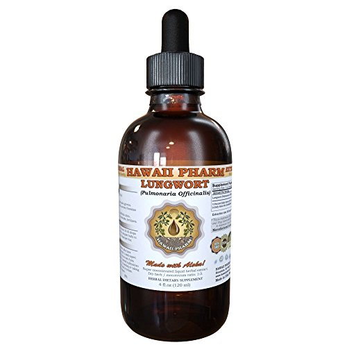 Lungwort Liquid Extract, Organic Lungwort (Pulmonaria officinalis) Tincture 4 oz For Sale