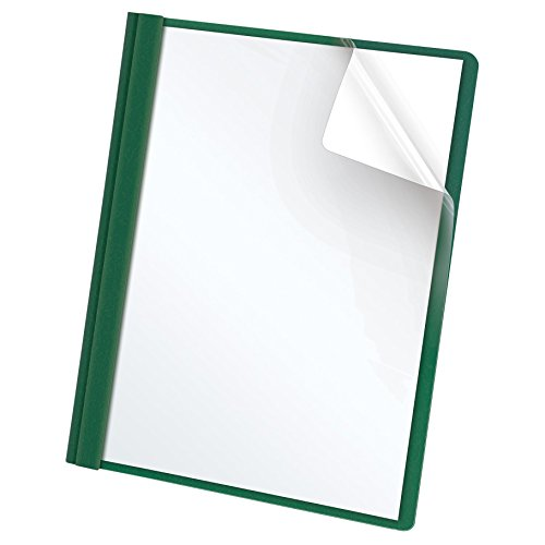 Oxford Clear Front Report Covers, Letter Size, Hunter Green, 25 per Box (55856EE)