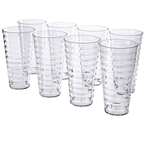 Splash 28-ounce Clear Plastic Tumblers | set of 8