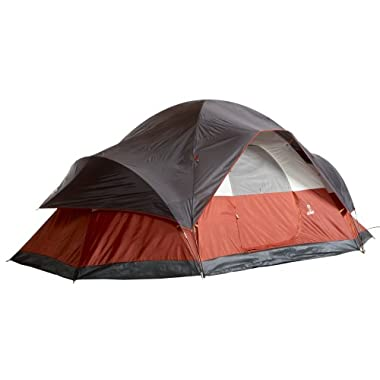 Coleman 8-Person Red Canyon Tent,204  L x 120  W x 72  H