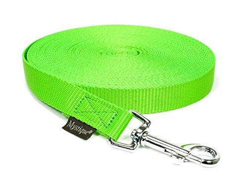 Schleppleine für Hunde hellgrün 10m x 20mm