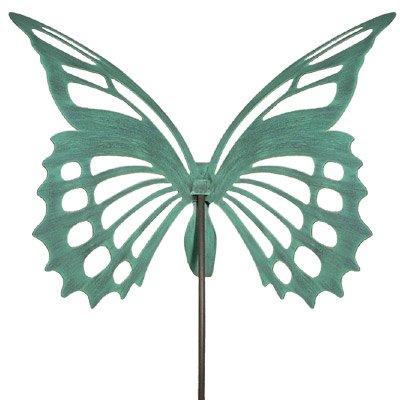 Large Butterfly Garden Sculpture/Stake - Verdi Green by Modern Artisans