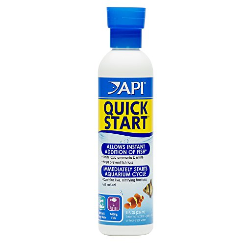 (API Quick Start Freshwater & Saltwater Aquarium Nitrifying Bacteria 8 oz Bottle)