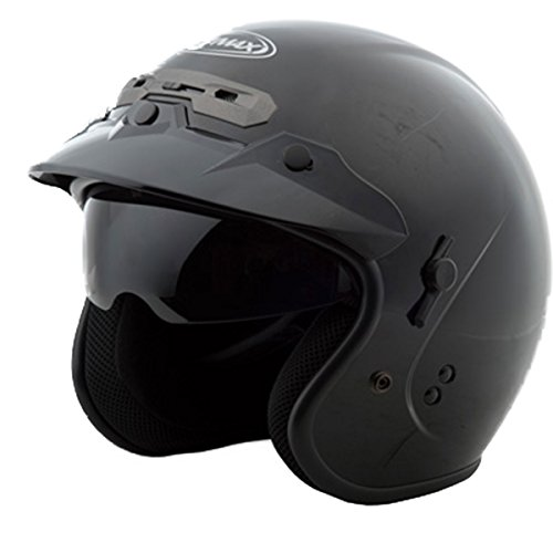 GMax GM32 Black Open Face Helmet - Large