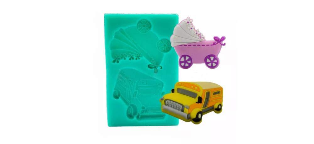 BouBou Muffa di Decorazione della Muffa della Torta di Nozze del Silicone del Veicolo dell'autoscuola dell'automobile del Carrello del Carrello del Bambino Prezzi