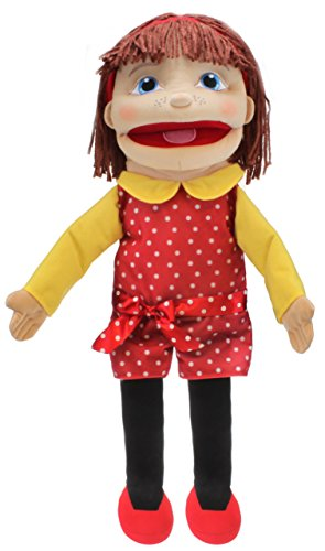 Girl Puppet Skin (The Puppet Company Medium Sized Puppet Buddies Girl Hand Puppet - Light Skin Tone)