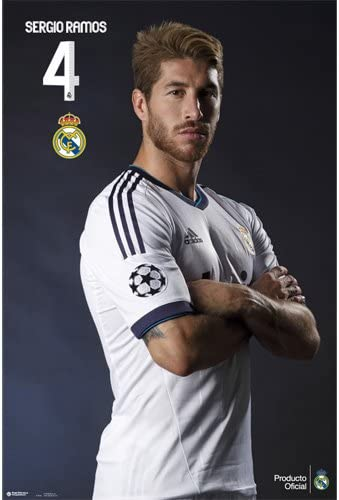 Real Madrid - Poster Sergio Ramos-Pose (in 61 cm x 91,5 cm): Amazon.es: Hogar
