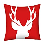 Throw Pillow Covers Merry Christmas Notekd 3D Printed Merry Christmas Decorative Cushion Cover Case Pillow Custom Zippered Square Home Decor Pillowcase 18x18 for Sofa Bed Room (H)