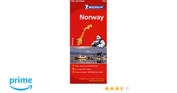 Michelin Norway Map Michelin Books Amazonca - Michelin norway map 752