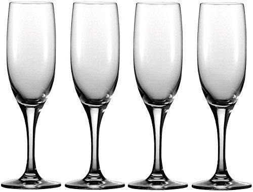 Flutes Stem Black (Circleware 44019 Vine Champagne Flutes Best Selling, 7 oz, Clear)