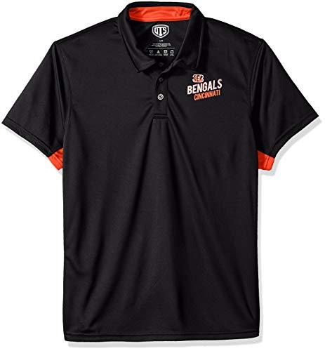 OTS NFL Cincinnati Bengals Men's Poly Dot Polo, Hooper, Large