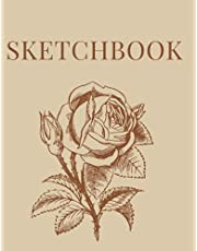 """Sketchbook [100 pages] [8.5"""" x 11""""] [White]: Large Sketchbook with 100 pages blank paper for Drawing, Doodling and Painting"""