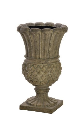 BirdRock Garden Pineapple Urn - Aged Granite | Indoor Outdoor Planter Urn by BirdRock Home