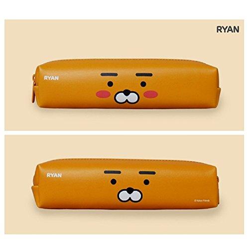 KAKAO FRIENDS Character Zipper Pencil Case Bag Pen Storage Stationery Pouch (Ryan) -